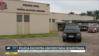 Homem que sequestrou e roubou uma universitária é preso em Jaú - Rapaz, que confessou o crime, teve a prisão preventiva decretada pela Justiça. Vítima ficou dois dias desaparecidas.