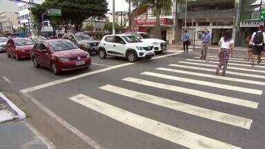 Atividades do Maio Amarelo são iniciadas em Juiz de Fora - Campanha chama atenção para segurança no trânsito e, neste ano, o tema é 'No trânsito, o sentido é a vida'.