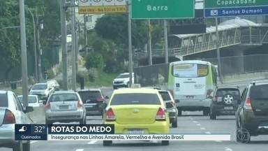 Motoristas reclamam de falta de policiamento e violência nas vias expressas do Rio - Um radialista levou dois tiros em um assalto na Linha Amarela.