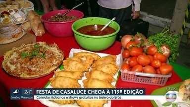 Festa italiana Casaluce chega à 119ª edição - A festa italiana mais antiga da cidade de São Paulo acontece nos sábados e domingos, e vai até o dia 26 de maio.
