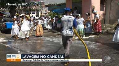 Tradição: lavagem do Candeal é festejada por moradores do bairro - Festa reuniu música e alegria no último domingo (5).