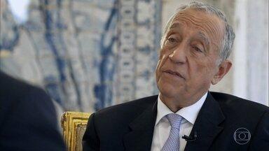 Marcelo Rebelo de Sousa fala sobre os efeitos da polarização em Portugal - Ele explica os motivos que o levaram a desistir de concorrer à presidência em 2006