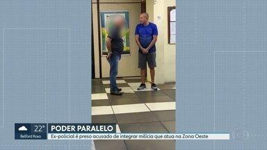 Justiça prende ex-policial acusado de integrar milícia que atua na Zona Oeste - Marcos Vinicius Reis dos Santos, conhecido como Fininho, estava foragido desde fevereiro. Ele é apontado como braço-direito de um dos chefes do grupo