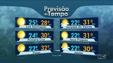 Veja as variações das temperaturas no Maranhão - Confira a previsão do tempo nesta quinta-feira (9) em São Luís e também no interior do estado.
