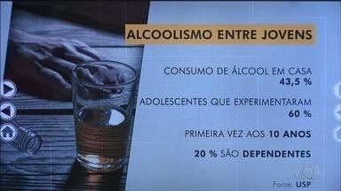 Bom Dia Responde fala sobre alcoolismo entre jovens em Goiás - Especialista tira dúvidas dos telespectadores sobre o assunto.