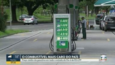 Preço da gasolina no estado do Rio é o mais caro do país - Nas últimas quatro semanas, o preço aumentou 3%.