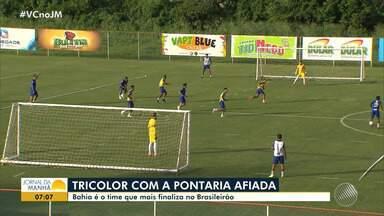 Pontaria afiada: Bahia é o time que mais finaliza no Brasileirão - Veja os destaques do tricolor baiano.