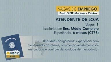 Sine Manaus oferece vagas de emprego nesta quinta-feira (9) - Confira oportunidades disponíveis.