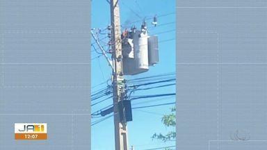 Morador grava vídeo de transformador de energia pegando fogo na 306 Sul - Morador grava vídeo de transformador de energia pegando fogo na 306 Sul