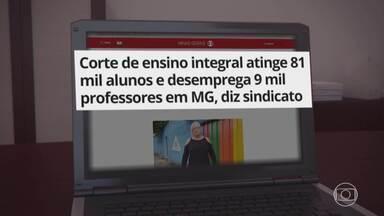 G1 no BDMG: Corte de ensino integral desemprega 9 mil professores em MG, diz sindicato - 'Gostaria de convidar o governador para conhecer o que ele está fechando sem conhecer', diz professora sobre o fim do programa Escola Integral e Integrada, em Belo Horizonte.