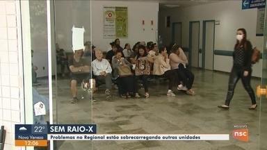 Falta de equipamento no Hospital Regional de São José sobrecarrega outras unidades - Falta de equipamento de raio-x no Hospital Regional de São José sobrecarrega outras unidades