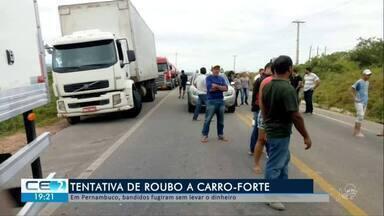 Bandidos tentam roubar carro-forte em Pernambuco - Confira mais notícias em g1.globo.com/ce