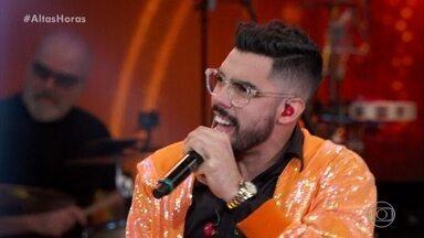 Gabriel Diniz canta 'Trem Bala' - Ele empolga plateia com cover de Ana Vilela