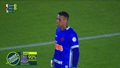 Com 90% dos votos, Sidão é eleito craque do jogo diante do Santos - Com 90% dos votos, Sidão é eleito craque do jogo diante do Santos