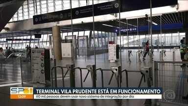 Novo terminal na Vila Prudente tem primeiro dia útil de funcionamento - Local terá posto da SPTRANS para resolver problemas com o bilhete único.
