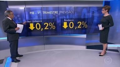 Carlos Alberto Sardenberg comenta a piora nas previsões de crescimento do PIB - Ata do Capom e maiores bancos privados esperam retração da economia no 1o. trimestre.