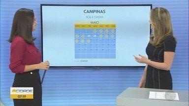 Campinas terá temperatura máxima de 25ºC nesta quarta-feira - Confira a previsão do tempo em Campinas e região