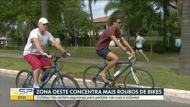 São Paulo registra mais de 600 roubos de bicicletas em 2018 - Os bairros de Pinheiros e Alto de Pinheiros tiveram o maior número de casos.