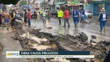 Em Manaus, obra inacabada causa prejuízos a moradores da zona Sul - Mais de 20 casas foram invadidas pela água e pelo barro.