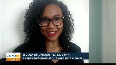 Tem vagas de emprego em João Pessoa - Oportunidades são para professor de inglês e monitor