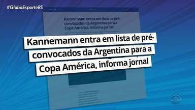 Kannemann está em pré-lista dos convocados para a seleção Argentina na Copa América - Assista ao vídeo.