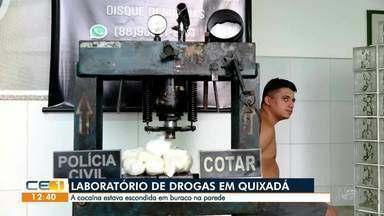 Polícia descobre laboratório de drogas em Quixadá - Confira mais notícias em g1.globo.com/ce
