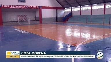 Copa Morena 2019 tem jogos em Campo Grande e 3 cidades neste fim de semana - Além da capital sul-mato-grossense, recebem jogos do torneio de futsal Douradina, Eldorado e Ribas do Rio Pardo.