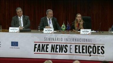 Seminário discute o impacto das fake news nas eleições - Ministra Rosa Weber falou em união de setores para combater informações falsas