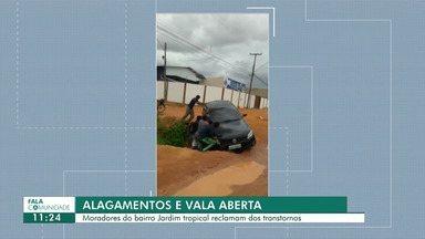 Fala Comunidade: vala aberta e muita lama em Boa Vista - Moradores do Jardim Tropical reclamam de situação de abandono. Carro caiu em uma vala aberta no bairro.