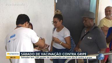'Dia D' de vacinação contra a gripe é realizado novamente neste sábado, em Salvador - Capital baiana tem 189 postos de atendimento para vacinar o público alvo.