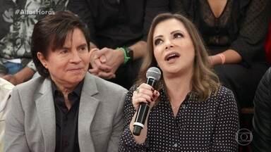 Noely diz que achou que shows de Sandy & Junior em estádios ficariam vazios - Ela não tinha ideia da proporção que ia tomar o retorno da dupla