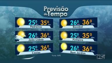 Veja as variações das temperaturas no Maranhão - Confira a previsão do tempo nesta segunda-feira (20) em São Luís e no interior do estado.