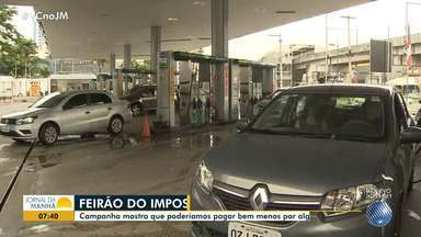 Desconto na gasolina: Dia D do Feirão do Imposto acontece no sábado (25) - Alguns postos de Salvador vão oferecer o combustível sem imposto; confira.