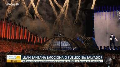 Mega produção: Luan Santana emociona o publico na gravação do DVD em Salvador - Veja como foi a festa cheia de efeitos especiais.