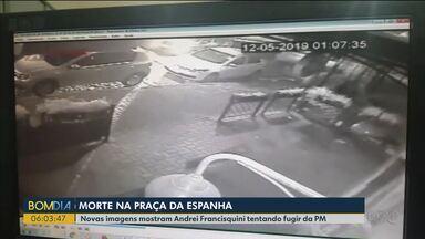 Morte na Praça da Espanha - Novas imagens mostram Andrei Francisquini tentando fugir da PM
