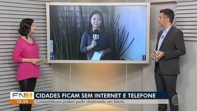 Problema em fibra ótica causa prejuízos a estabelecimentos em Presidente Prudente - Serviços que dependem da internet e da telefonia ficaram paralisados.