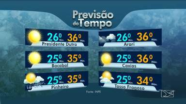 Veja as variações das temperaturas no Maranhão - Confira a previsão do tempo nesta quarta-feira (22) em São Luís e também no interior do estado.