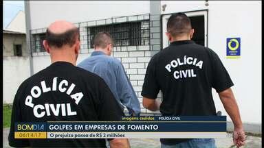 Operação prende quadrilha que aplicava golpe em empresas de fomento - Duas pessoas foram presas e oito contas bancárias bloqueadas