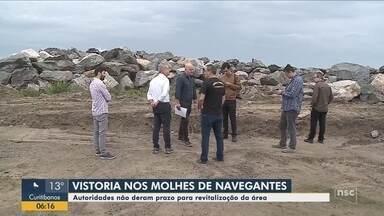 Prazo para revitalização da área dos molhes de Navegantes não foi definido - Prazo para revitalização da área dos molhes de Navegantes não foi definido