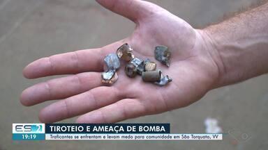 Criminosos se enfrentam e levam medo para comunidade de Vila Velha, ES - Teve tiroteio e ameaça de bomba.