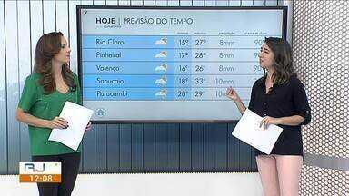 Frente fria avança e sexta-feira será de temperaturas mais baixas no Sul do Rio - Previsão é de chuva fraca em algumas cidades da região.