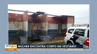 Homem é encontrado morto em vestiário desativado de campo de futebol - Ocorrência foi registrada no Jardim Humberto Salvador, em Presidente Prudente.