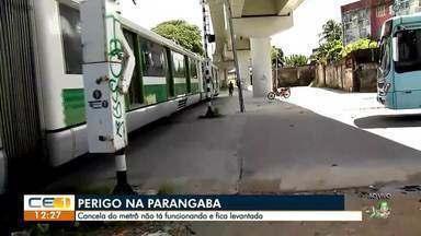 Cancela do metrô não funciona na Parangaba - Confira mais notícias em g1.globo.com/ce