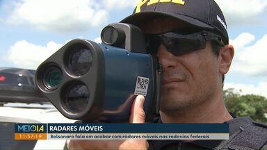 Em passagem por Cascavel, Bolsonaro falou em acabar com radares móveis nas rodovias - PRF de Cascavel fiscaliza 814 km de rodovia federal.