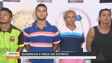 Cinco homens são presos suspeitos de integrar organização criminosa em Manaus - Grupo fazia roubos e furtos em Manaus.