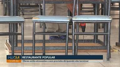 Obras do Restaurante Popular estão atrasadas sem previsão de término - Quando reabrir, o preço do almoço será mais caro: R$3,00.