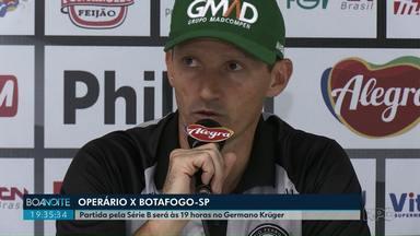 Gerson Gusmão adianta decisões sobre a escalação de Operário contra Botafogo-SP - Time de Ponta Grossa recebe adversário neste sábado (25) às 19 horas.