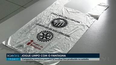 Campanha do Operário com o Rotary incentiva torcedor a recolher lixo produzido no estádio - A torcida Trem Fantasma também participa do programa.