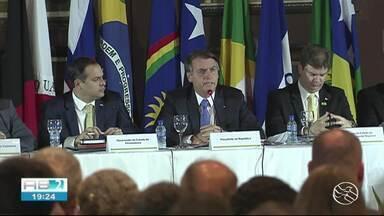 Presidente Bolsonaro visita Pernambuco nesta sexta-feira (24) - Político visitou Recife e seguiu para Petrolina.