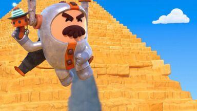 Pirâmides De Gizé - Glitch cria problemas com uma pequena pirâmide quando ele e os Go Jetters visitam as Pirâmides de Gizé, no Egito.
